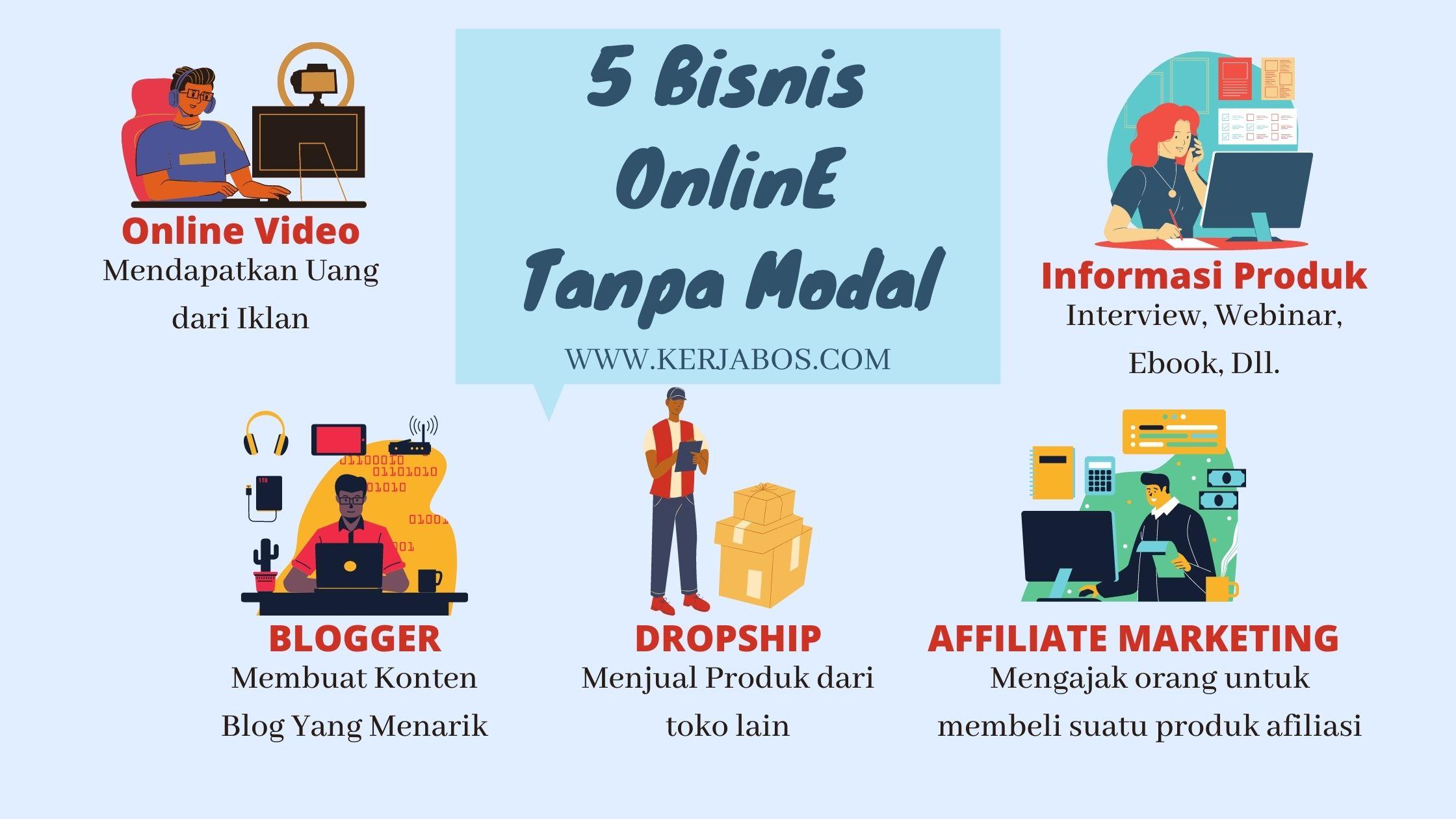 5 Bisnis Online Tanpa Modal
